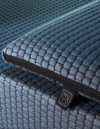 Dettaglio NUVOPlus e Pillow blu polvere con NUVOTECH